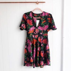 NWT Zara Floral Print Mini Dress